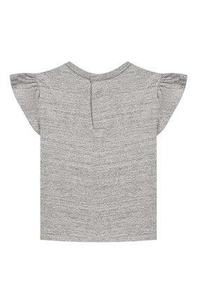 Детский хлопковая футболка MARC JACOBS (THE) серого цвета, арт. W05273 | Фото 2
