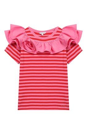 Детская хлопковая футболка MARC JACOBS (THE) разноцветного цвета, арт. W15495 | Фото 1