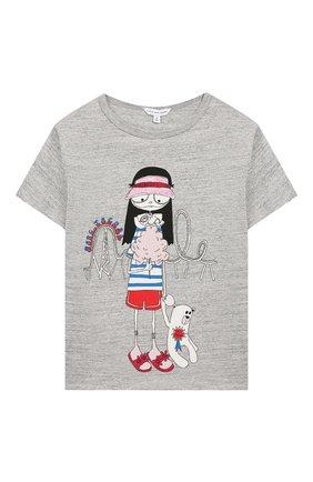 Детская хлопковая футболка MARC JACOBS (THE) серого цвета, арт. W15484 | Фото 1