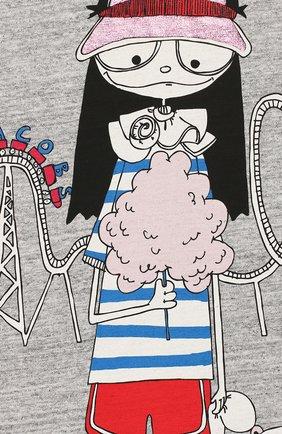 Детская хлопковая футболка MARC JACOBS (THE) серого цвета, арт. W15484 | Фото 3