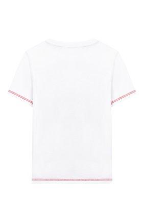 Детская хлопковая футболка MARC JACOBS (THE) черно-белого цвета, арт. W25416 | Фото 2