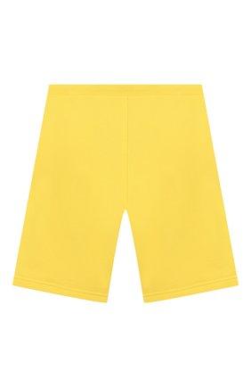 Детские хлопковые шорты KARL LAGERFELD KIDS желтого цвета, арт. Z24092 | Фото 2