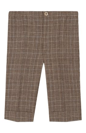 Детские брюки из шерсти и льна GUCCI бежевого цвета, арт. 591407/XWAGI | Фото 1