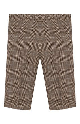 Детские брюки из шерсти и льна GUCCI бежевого цвета, арт. 591407/XWAGI | Фото 2