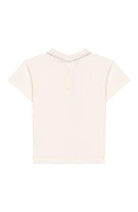 Детский хлопковая футболка FENDI белого цвета, арт. BMI198/7AJ/3M-9M | Фото 2