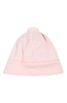 Детского хлопковая шапка ALETTA розового цвета, арт. RB00118 | Фото 2