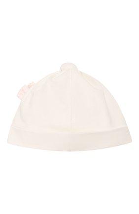 Детского хлопковая шапка ALETTA бежевого цвета, арт. RD00103 | Фото 2