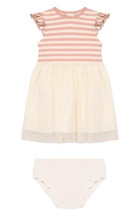 Женский комплект из платья и шорт ALETTA розового цвета, арт. RW00252/1M-2A | Фото 1