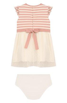 Женский комплект из платья и шорт ALETTA розового цвета, арт. RW00252/1M-2A | Фото 2