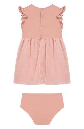 Женский комплект из платья и шорт ALETTA розового цвета, арт. RW00281/1M-2A | Фото 2