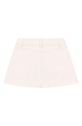 Детская джинсовая юбка BURBERRY белого цвета, арт. 8026348 | Фото 2