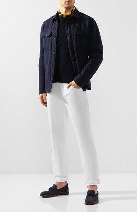 Мужской кашемировый свитер RALPH LAUREN синего цвета, арт. P44/SP039/WF417 | Фото 2