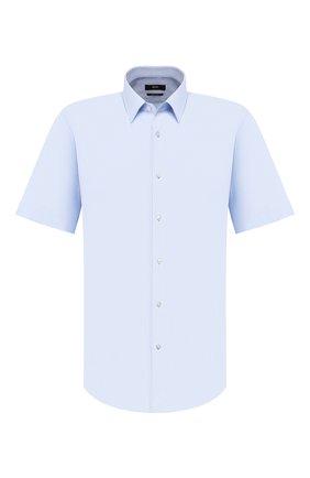 Мужская хлопковая сорочка BOSS голубого цвета, арт. 50427558 | Фото 1