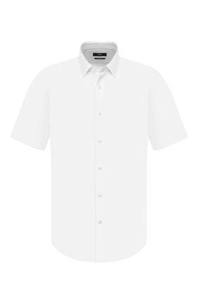 Мужская хлопковая сорочка BOSS белого цвета, арт. 50427558 | Фото 1