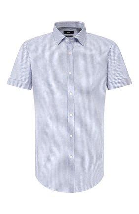 Мужская хлопковая сорочка BOSS синего цвета, арт. 50427942 | Фото 1