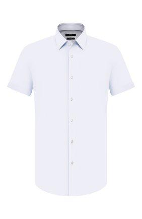 Мужская хлопковая сорочка BOSS светло-голубого цвета, арт. 50429441 | Фото 1