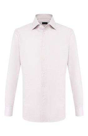 Мужская хлопковая сорочка ERMENEGILDO ZEGNA розового цвета, арт. 701308/9RS0GS | Фото 1