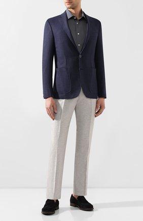 Мужская хлопковая сорочка ETON синего цвета, арт. 1000 01582   Фото 2
