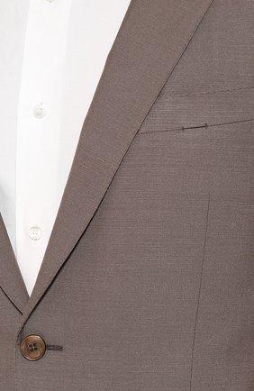 Мужской костюм из смеси шелка и шерсти ERMENEGILDO ZEGNA коричневого цвета, арт. 716073/21CSA7 | Фото 6