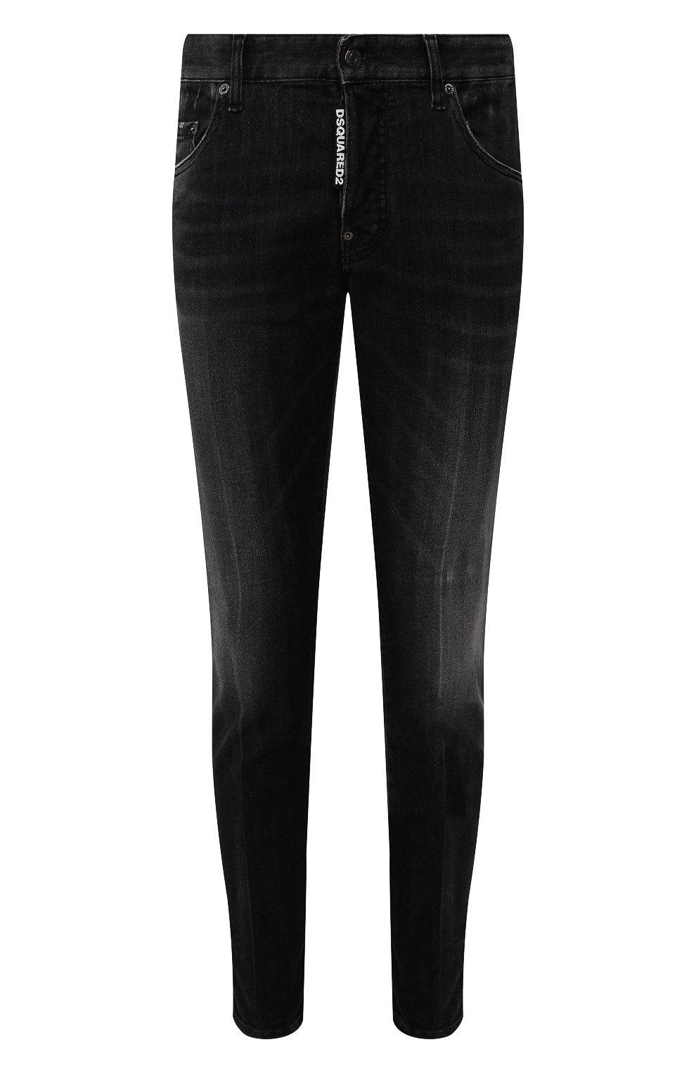 Мужские джинсы DSQUARED2 черного цвета, арт. S71LB0715/S30503 | Фото 1