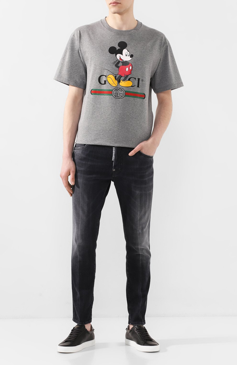 Мужские джинсы DSQUARED2 черного цвета, арт. S71LB0715/S30503 | Фото 2