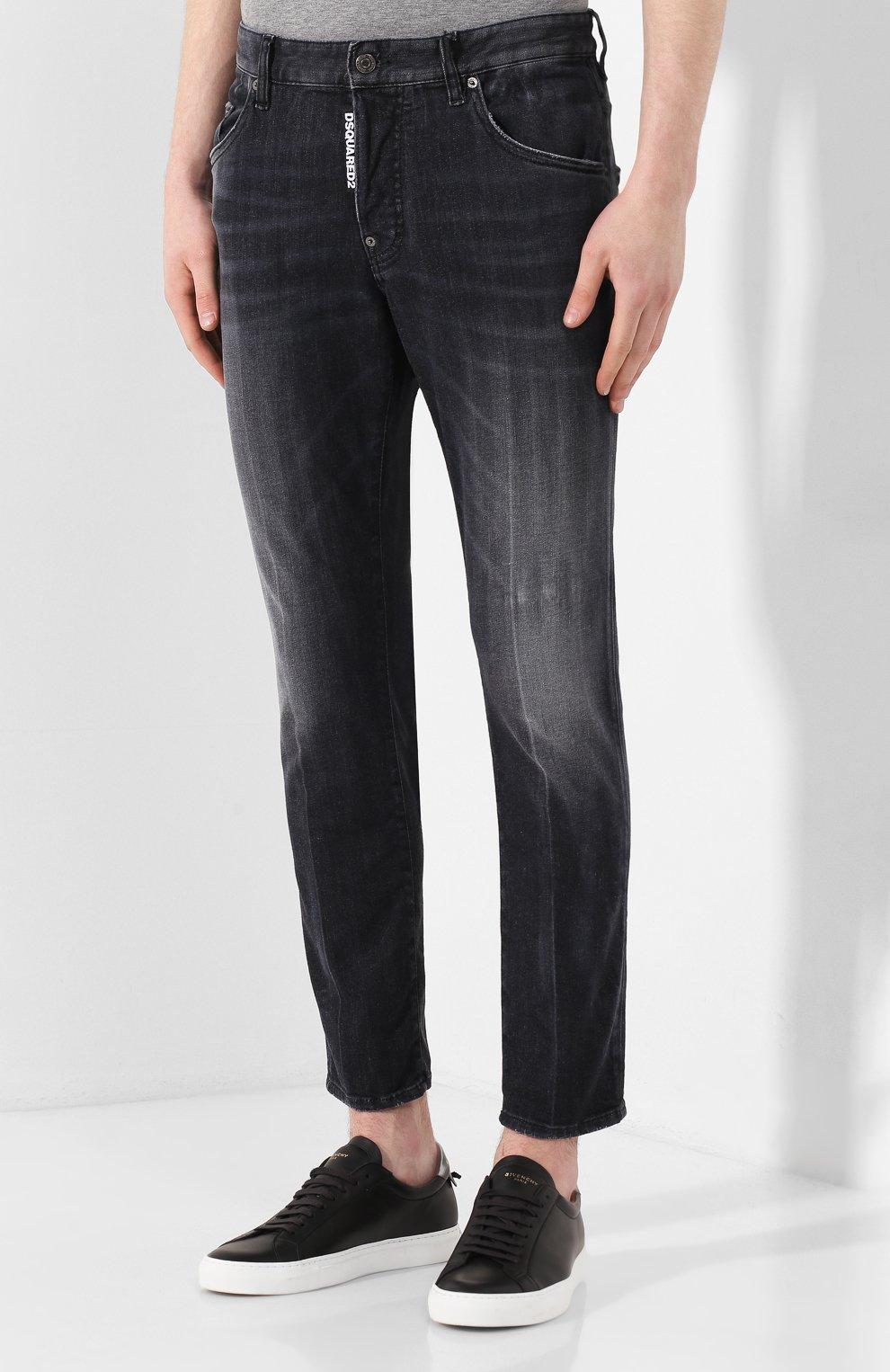 Мужские джинсы DSQUARED2 черного цвета, арт. S71LB0715/S30503 | Фото 3