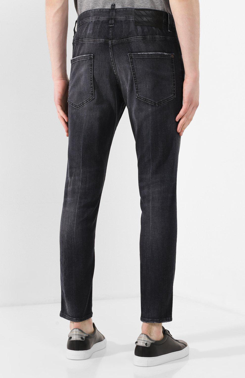 Мужские джинсы DSQUARED2 черного цвета, арт. S71LB0715/S30503 | Фото 4