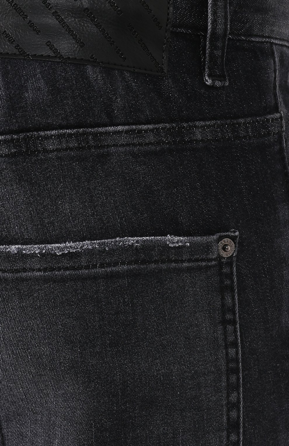 Мужские джинсы DSQUARED2 черного цвета, арт. S71LB0715/S30503 | Фото 5