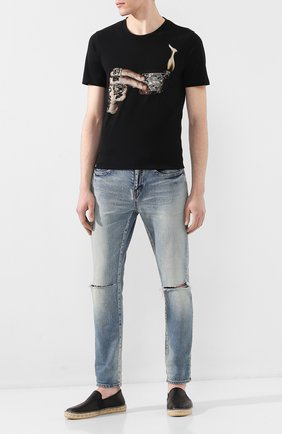 Мужская хлопковая футболка RH45 черного цвета, арт. HS26-I | Фото 2