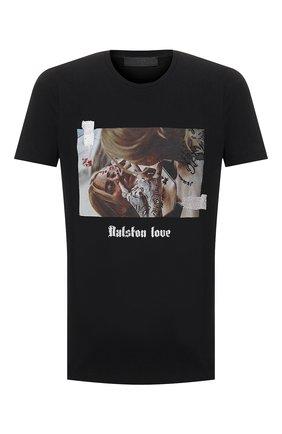 Мужская хлопковая футболка RH45 черного цвета, арт. HS29-I | Фото 1