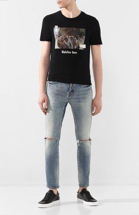 Мужская хлопковая футболка RH45 черного цвета, арт. HS29-I | Фото 2