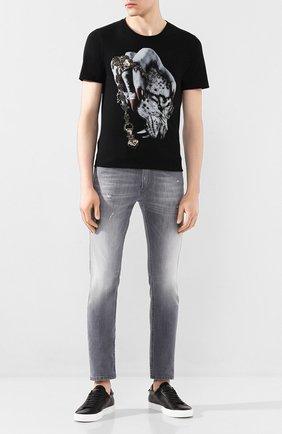 Мужская хлопковая футболка RH45 черного цвета, арт. HS30-I | Фото 2