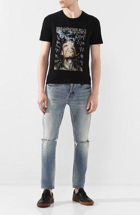 Мужская хлопковая футболка RH45 черного цвета, арт. HS46-I | Фото 2