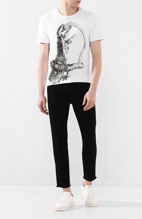 Мужская хлопковая футболка RH45 белого цвета, арт. HS47 | Фото 2