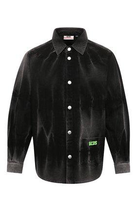 Мужская джинсовая рубашка GCDS темно-серого цвета, арт. SS20M020090 | Фото 1