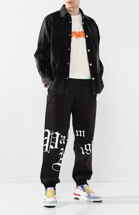 Мужская джинсовая рубашка GCDS темно-серого цвета, арт. SS20M020090 | Фото 2