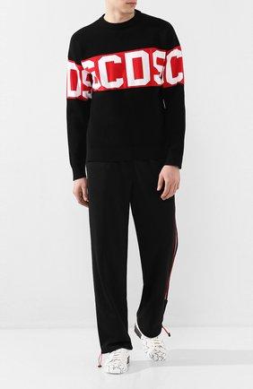 Мужской брюки GCDS черного цвета, арт. CC94M031301 | Фото 2