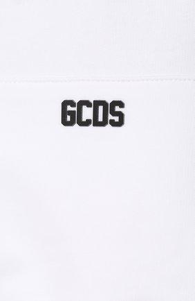 Мужской хлопковое худи GCDS белого цвета, арт. CC94M021002   Фото 5