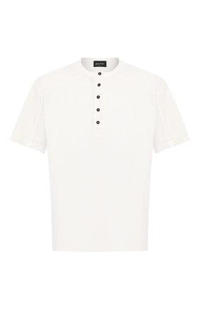 Мужская хлопковая футболка ANDREA YA'AQOV белого цвета, арт. 20M0PW20 | Фото 1