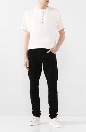 Мужская хлопковая футболка ANDREA YA'AQOV белого цвета, арт. 20M0PW20 | Фото 2