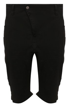Мужские хлопковые шорты ANDREA YA'AQOV черного цвета, арт. 20MDEN34 | Фото 1