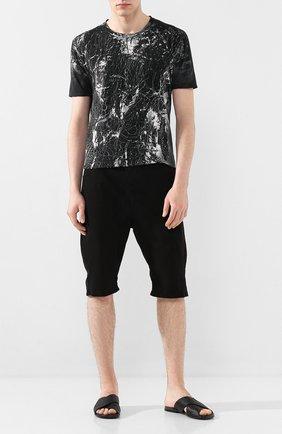 Мужские хлопковые шорты ANDREA YA'AQOV черного цвета, арт. 20MDEN34 | Фото 2