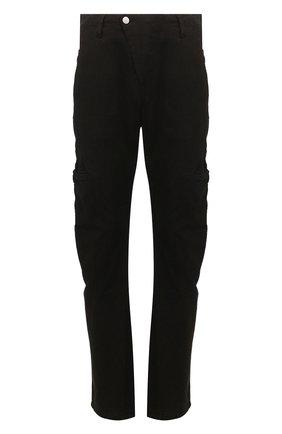 Мужской хлопковые брюки ANDREA YA'AQOV черного цвета, арт. 20MDEN38 | Фото 1