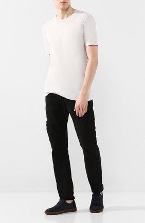 Мужской хлопковые брюки ANDREA YA'AQOV черного цвета, арт. 20MDEN38 | Фото 2