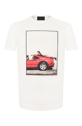 Мужская хлопковая футболка LIMITATO белого цвета, арт. HANG L00SE/T-SHIRT | Фото 1