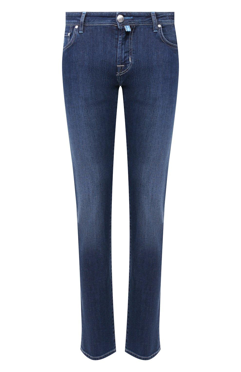 Мужские джинсы JACOB COHEN темно-синего цвета, арт. J625 C0MF 00918-W1/53   Фото 1