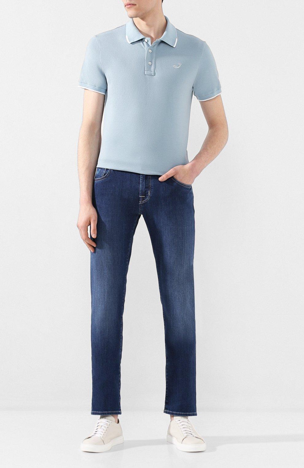 Мужские джинсы JACOB COHEN темно-синего цвета, арт. J625 C0MF 00918-W1/53   Фото 2
