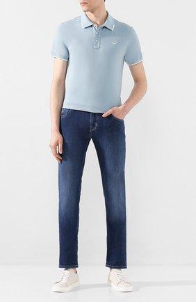 Мужские джинсы JACOB COHEN темно-синего цвета, арт. J625 C0MF 00918-W1/53 | Фото 2