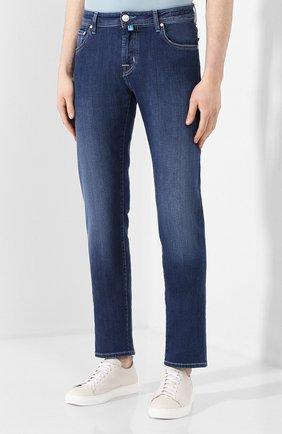 Мужские джинсы JACOB COHEN темно-синего цвета, арт. J625 C0MF 00918-W1/53   Фото 3