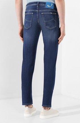 Мужские джинсы JACOB COHEN темно-синего цвета, арт. J625 C0MF 00918-W1/53   Фото 4